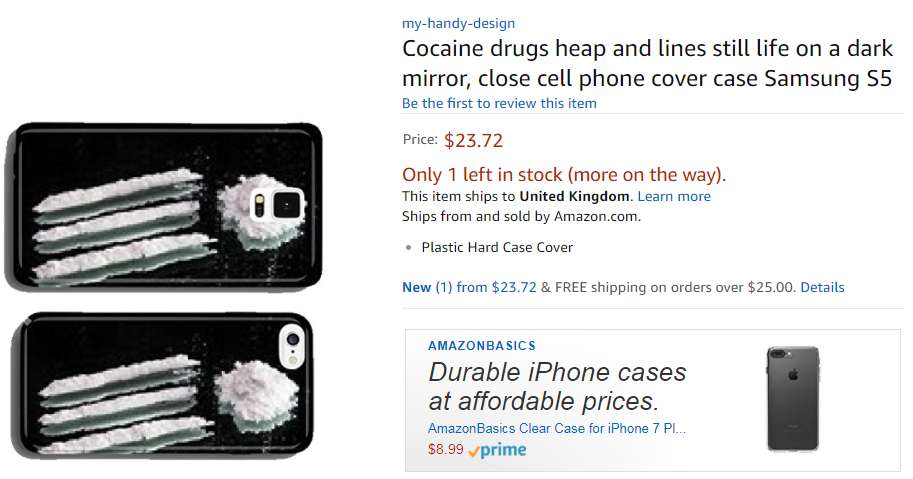 coque iphone 6 cocaine